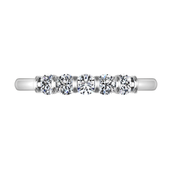 Diamond Wedding Band Oliva 0.3 Cts 14K White Gold