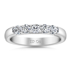 Diamond Wedding Band Hadley  0.15 Cts 14K White Gold