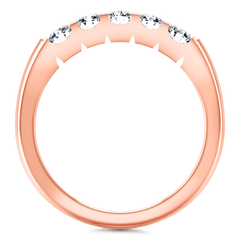 Diamond Wedding Band Hadley  0.15 Cts 14K Rose Gold