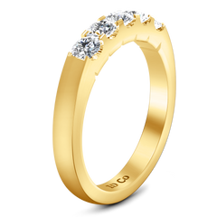 Diamond Wedding Band Hadley  0.15 Cts 14K Yellow Gold