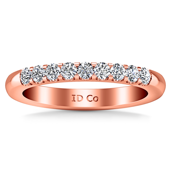 Diamond Wedding Band Candice 0.21 Cts 14K Rose Gold