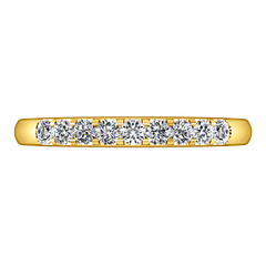 Diamond Wedding Band Candice 0.21 Cts 14K Yellow Gold
