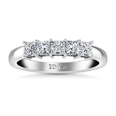 Diamond Wedding Band Gwen 0.25 Cts 14K White Gold