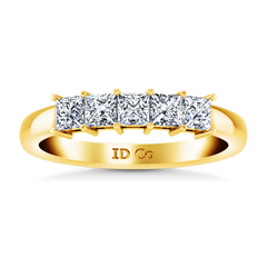 Diamond Wedding Band Gwen 0.25 Cts 14K Yellow Gold