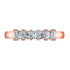 Diamond Wedding Band Gwen 0.25 Cts 14K Rose Gold