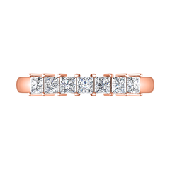 Diamond Wedding Band Janelle 0.49 Cts 14K Rose Gold