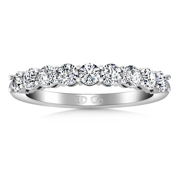 Diamond Wedding Band Verona  0.27 Cts 14K White Gold