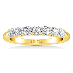 Seven Stone Diamond Wedding Band Bristol  0.21 Cts 14K Yellow Gold
