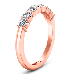 Seven Stone Diamond Wedding Band Bristol  0.21 Cts 14K Rose Gold