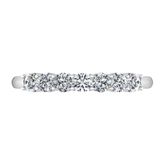 Seven Stone Diamond Wedding Band Bristol  0.21 Cts 14K White Gold