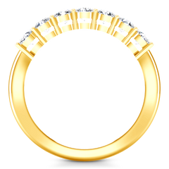 Seven Stone  Diamond Wedding Band Coventry 0.35 Cts 14K Yellow Gold