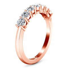Seven Stone  Diamond Wedding Band Coventry 0.35 Cts 14K Rose Gold