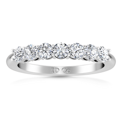 Seven Stone Diamond Wedding Band Siena   0.49 Cts 14K White Gold