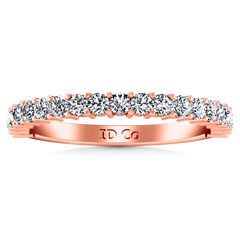 Diamond Wedding Band Avignon  0.45 Cts 14K Rose Gold