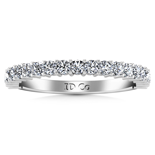 Diamond Wedding Band Avignon  0.45 Cts 14K White Gold
