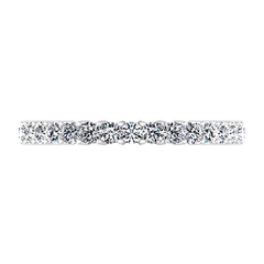 Five Stone Diamond Wedding Band Brighton  0.5 Cts 14K White Gold