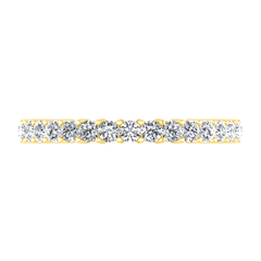 Diamond Wedding Band Avignon  0.45 Cts 14K Yellow Gold