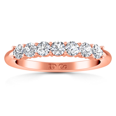 Seven Stone Diamond Wedding Band Camden 0.21 Cts 14K Rose Gold