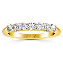 Seven Stone Diamond Wedding Band Camden 0.21 Cts 14K Yellow Gold
