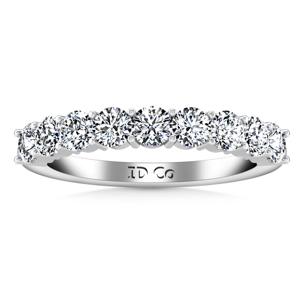 Diamond Wedding Band Preston  0.27 Cts 14K White Gold