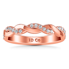 Diamond Wedding Band Willow 0.18 Cts 14K Rose Gold