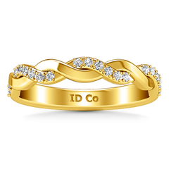 Diamond Wedding Band Willow 0.18 Cts 14K Yellow Gold