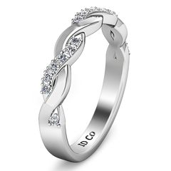 Diamond Wedding Band Willow 0.18 Cts 14K White Gold