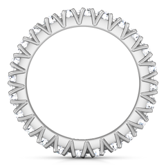 Eternity Ring Luce  1.68 Cts 14K White Gold