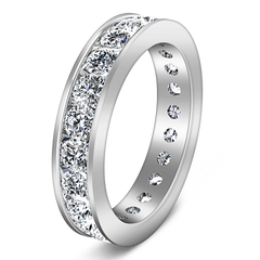 Eternity Ring Janet 1.68 Cts 14K White Gold