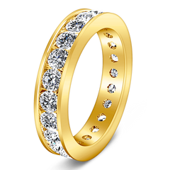 Eternity Ring Janet 1.68 Cts 14K Yellow Gold