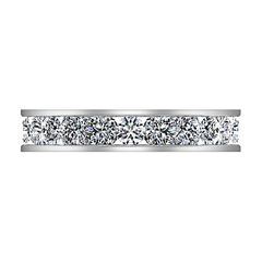 Eternity Ring Mellany  1.68 Cts 14K White Gold