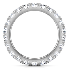 Eternity Ring Natasha  1.6 Cts 14K White Gold