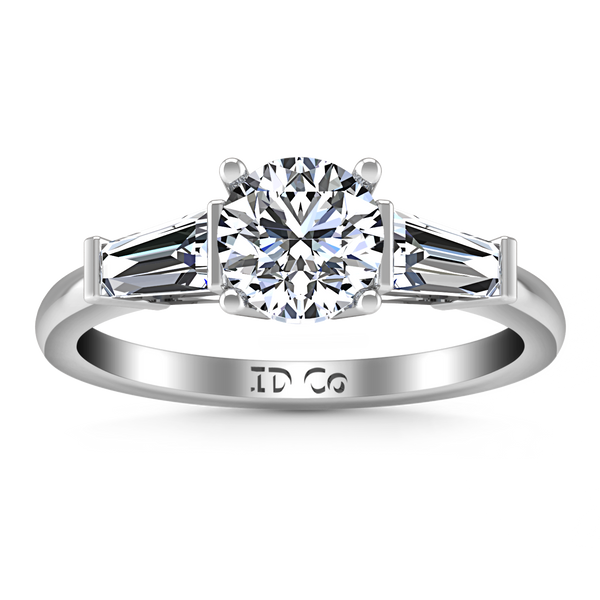 Three Stone Engagement Ring Jenna 14K White Gold