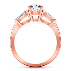 Three Stone Engagement Ring Jenna 14K Rose Gold