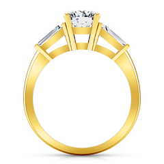 Three Stone Engagement Ring Jenna 14K Yellow Gold