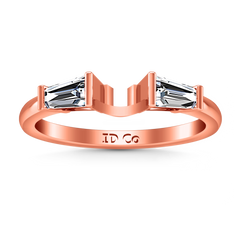 Diamond Wedding Band Jenna 0.12 Cts 14K Rose Gold