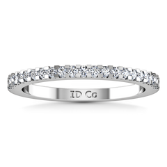 Diamond Wedding Band Lumiere 0.21 Cts 14K White Gold