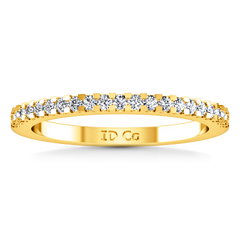 Diamond Wedding Band Lumiere 0.21 Cts 14K Yellow Gold