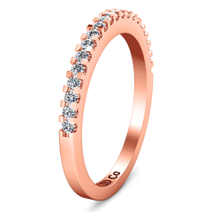 Diamond Wedding Band Lumiere 0.21 Cts 14K Rose Gold