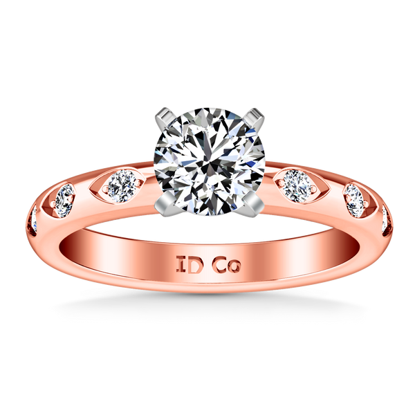 Pave Engagement Ring Jazz 14K Rose Gold