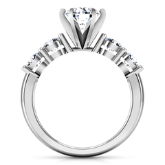 Pave Engagement Ring Journey 14K White Gold