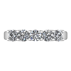 Diamond Wedding Band Journey 0.35 Cts 14K White Gold