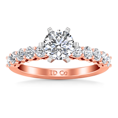 Pave Engagement Ring Fleur 14K Rose Gold
