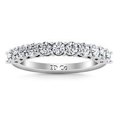 Diamond Wedding Band Fleur 0.55 Cts 14K White Gold