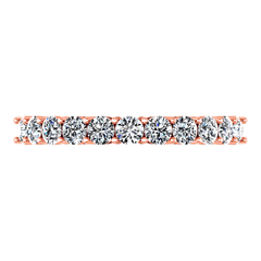 Diamond Wedding Band Fleur 0.55 Cts 14K Rose Gold