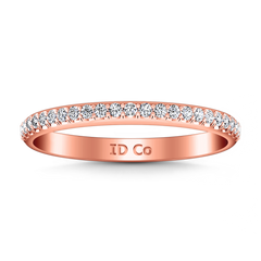 Diamond Wedding Band Alana 0.25 Cts 14K Rose Gold