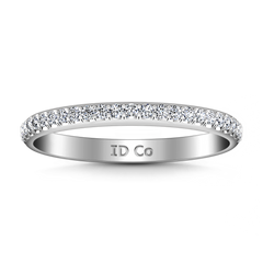 Diamond Wedding Band Alana 0.25 Cts 14K White Gold