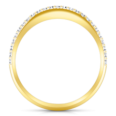 Diamond Wedding Band Alana 0.25 Cts 14K Yellow Gold