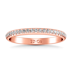 Diamond Wedding Band Talia 0.25 Cts 14K Rose Gold