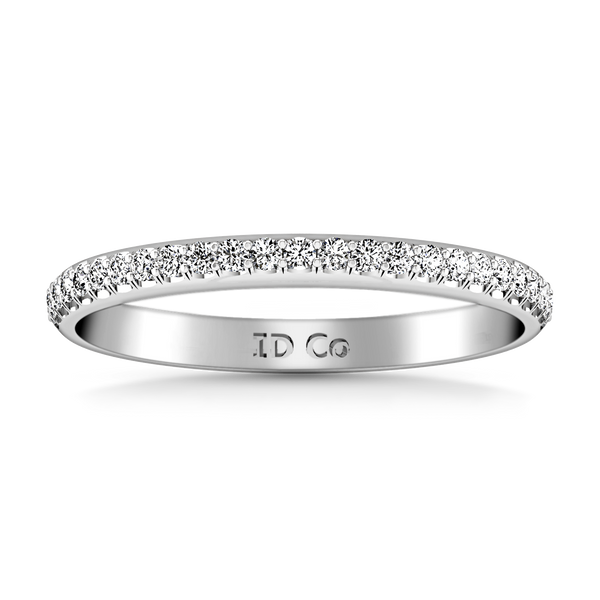 Diamond Wedding Band Talia 0.25 Cts 14K White Gold